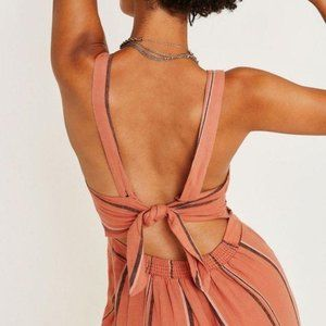 Urban Outfitters Ashley Striped Button Tie-Back XS